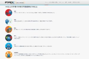 iFOREX 公式サイト 取り扱い銘柄