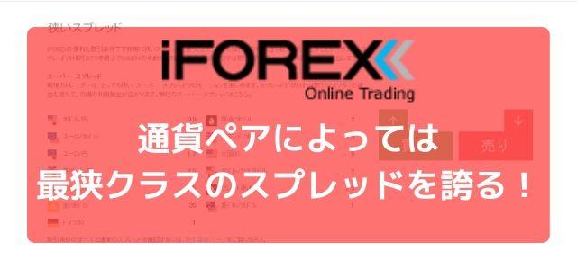 iFOREX 通貨ペア スプレッド