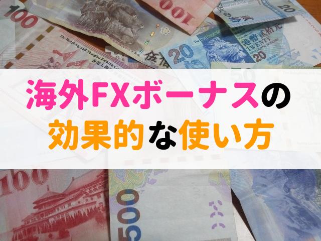 海外FX ボーナス 使い方