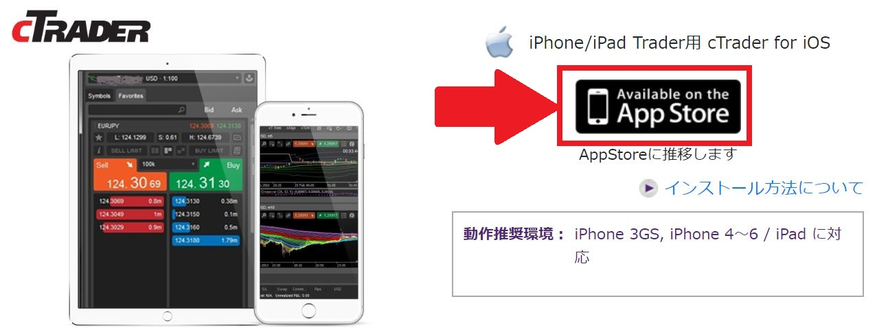cTrader for app axiory