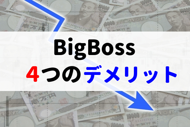 BigBoss デメリット